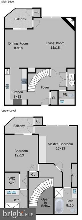 Floor plan - 1276 N WAYNE ST #418, ARLINGTON