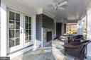 Expansive Side Porch with Dual Gas Fireplace - 12 HESKETH ST, CHEVY CHASE