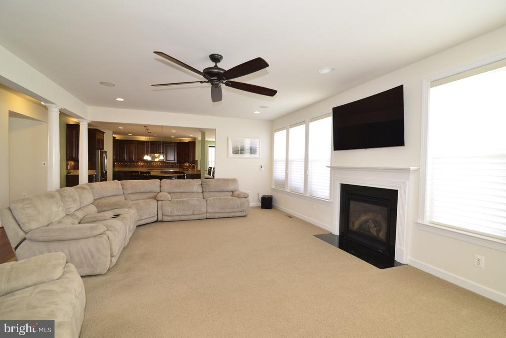 Family Room with Gas Fireplace - 22333 PASTURE ROSE PL, BROADLANDS