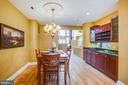 Dining room with built in credenza/bar - 717 KENMORE AVE, FREDERICKSBURG