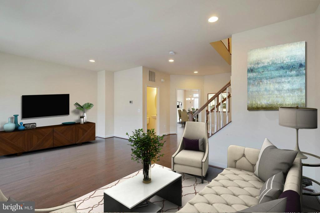 Spacious Living Room - 6255 CASDIN DR, ALEXANDRIA