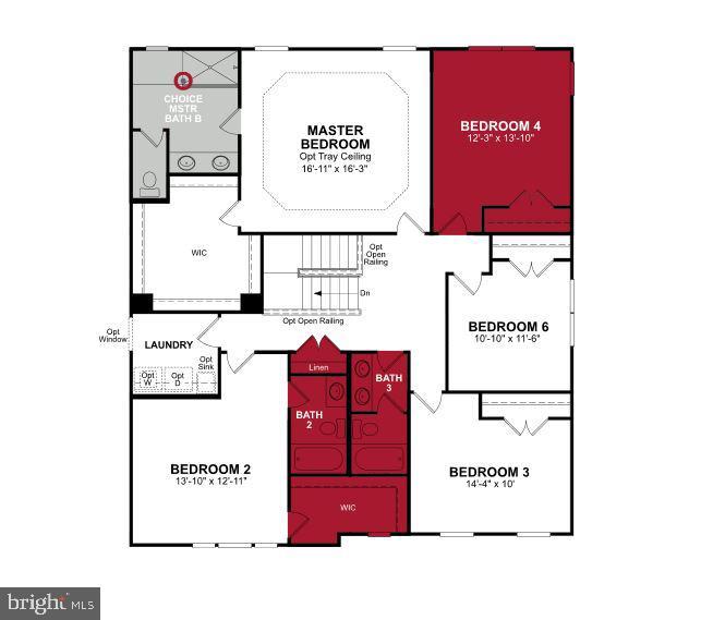 Upper Level Floor Plan - 115 DIZEREGA CT, LEESBURG