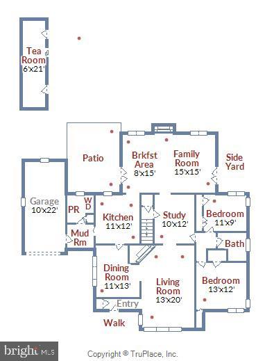 Main Level Floor Plan - 2259 N WAKEFIELD ST, ARLINGTON