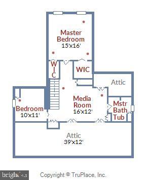 Upper Level Floor Plan - 2259 N WAKEFIELD ST, ARLINGTON