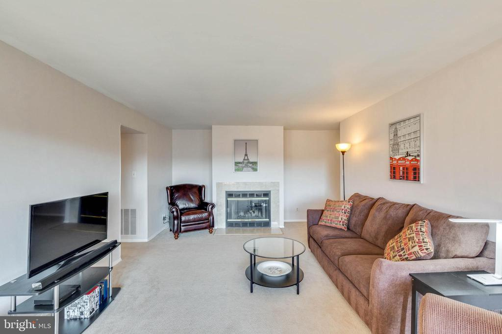 Large living room - 11423 COMMONWEALTH DR #301, ROCKVILLE