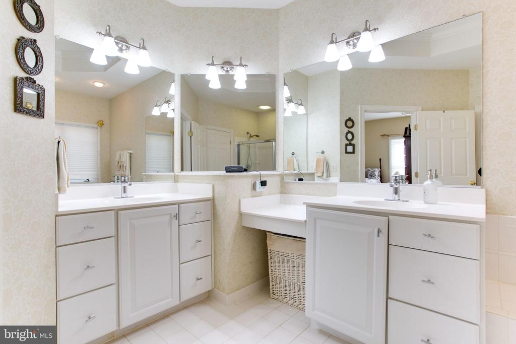 Dual Vanities in MBA, Updated Lights - 47297 OX BOW CIR, STERLING