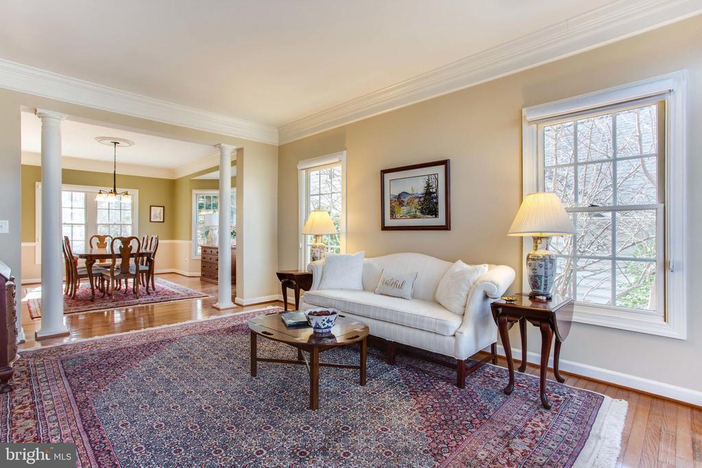 Living Room w/ HWFs - 47297 OX BOW CIR, STERLING