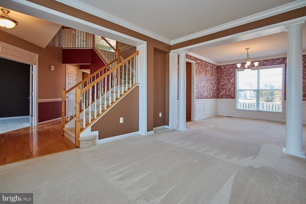 Living Room/Dining Room view - 8828 HEPNER CT, BRISTOW