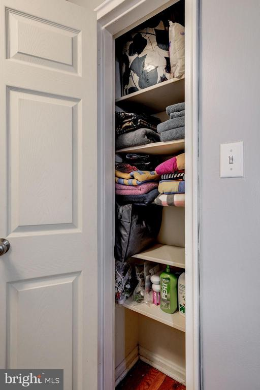 Linen Closet in Upstairs Hallway - 42 KENNEDY ST, ALEXANDRIA