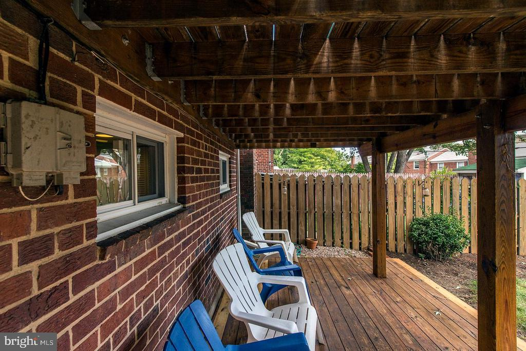 2nd Deck - Located Off Basement Level - 42 KENNEDY ST, ALEXANDRIA
