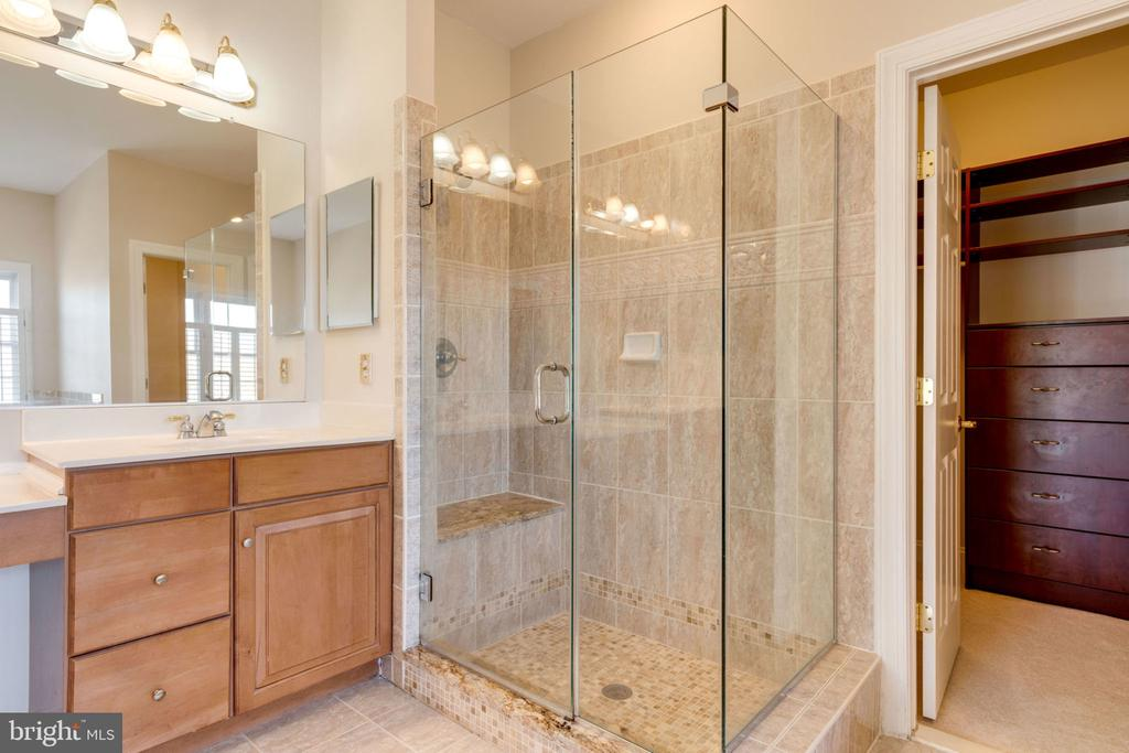 Glass shower in master - 9004 ADAMS CHASE CIR, LORTON
