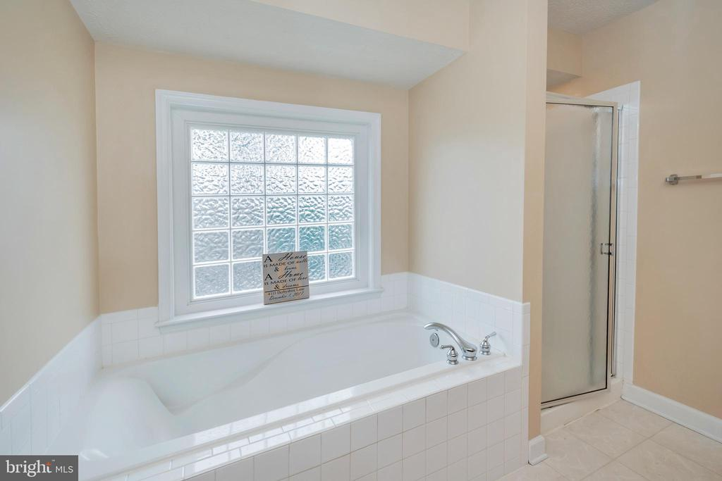 Master bathroom with garden tub & separate shower - 4111 DERBYSHIRE LN, FREDERICKSBURG
