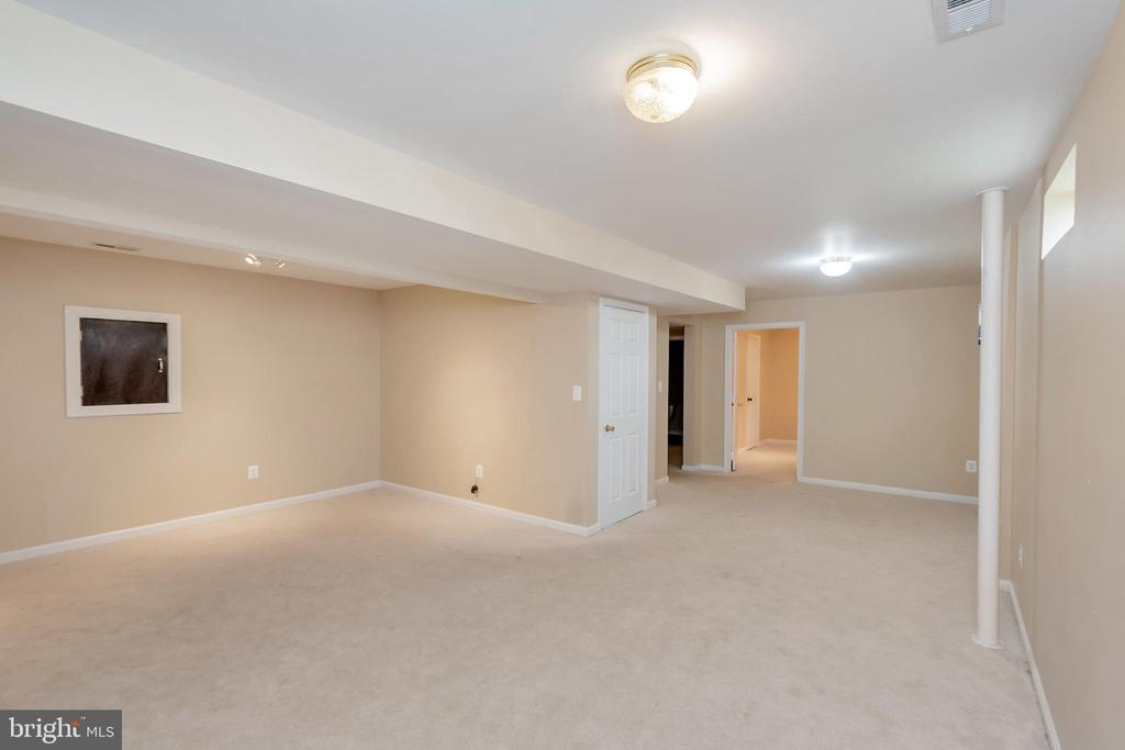 Large Recreation room in basement - 4111 DERBYSHIRE LN, FREDERICKSBURG