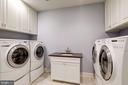 Dual Washer/Dryer on upper level with sink - 886 CHINQUAPIN RD, MCLEAN