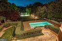 Night view Professionally Landscaped lit grounds - 886 CHINQUAPIN RD, MCLEAN