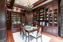 Custom builtin Library w/private adjoining office - 886 CHINQUAPIN RD, MCLEAN