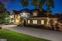 Exquisite lighting for grand circular drive entry - 886 CHINQUAPIN RD, MCLEAN