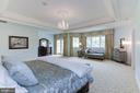 Master Suite has tray ceiling with balcony - 886 CHINQUAPIN RD, MCLEAN