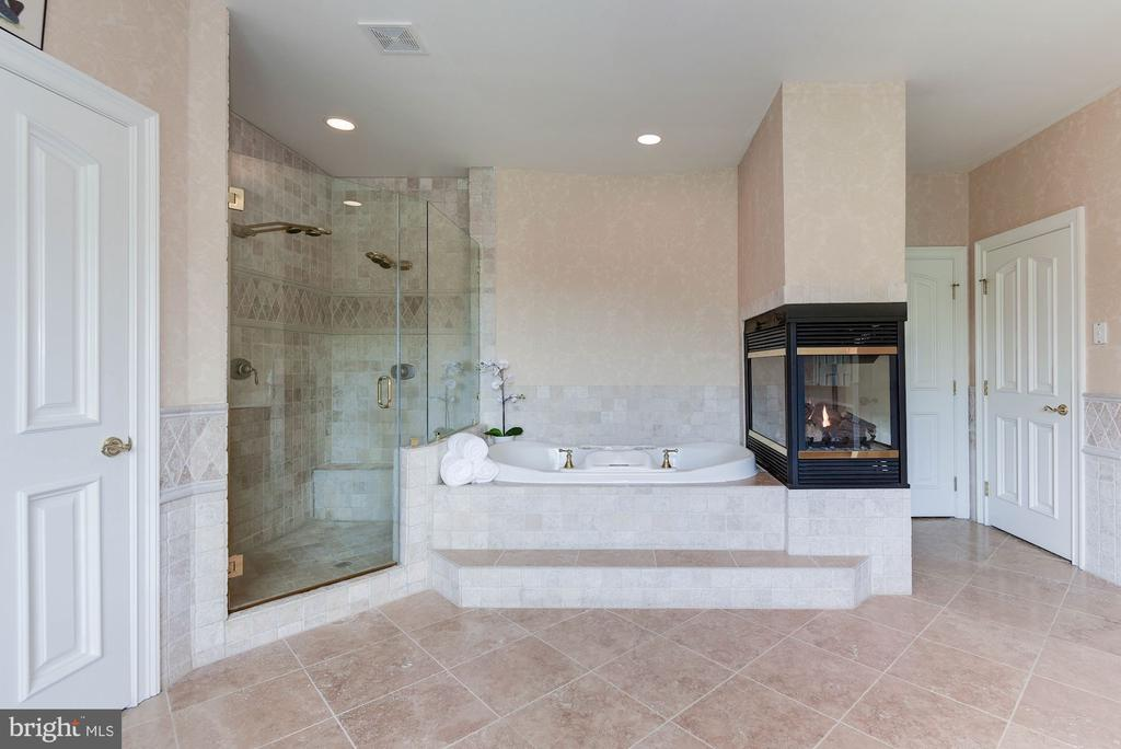 Dual Shower/Jacuzzi tub with gas Fireplace - 886 CHINQUAPIN RD, MCLEAN