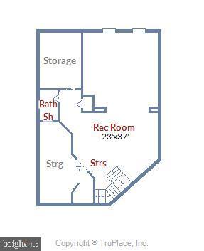 Lower Level Floor Plan - 43703 BURNING SANDS TER, LEESBURG