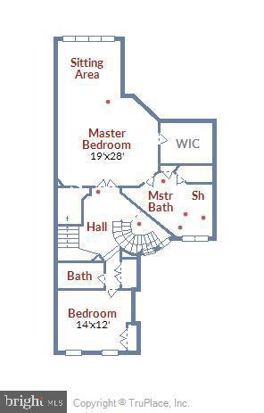 Bedroom Level Floor Plan - 43703 BURNING SANDS TER, LEESBURG