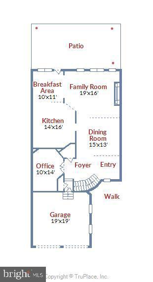 Main Level Floor Plan - 43703 BURNING SANDS TER, LEESBURG