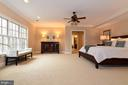 Bright Master bedroom - 12794 YATES FORD ROAD, CLIFTON