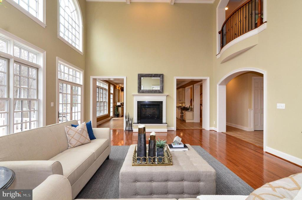 Impressive two story family room - 12794 YATES FORD ROAD, CLIFTON
