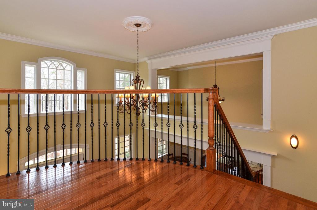 Beautifiul hardwoods on second floor hallway - 12794 YATES FORD ROAD, CLIFTON