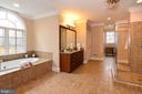 Lovely soaking tub looks out to private grounds - 12794 YATES FORD ROAD, CLIFTON