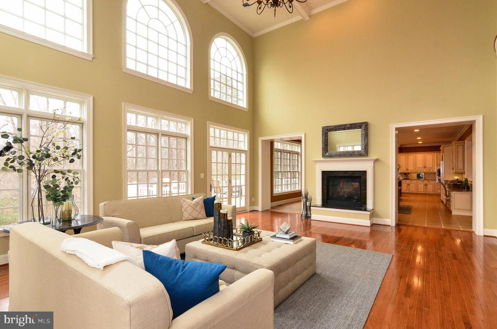 Gorgeous  fireplace in family room - 12794 YATES FORD ROAD, CLIFTON