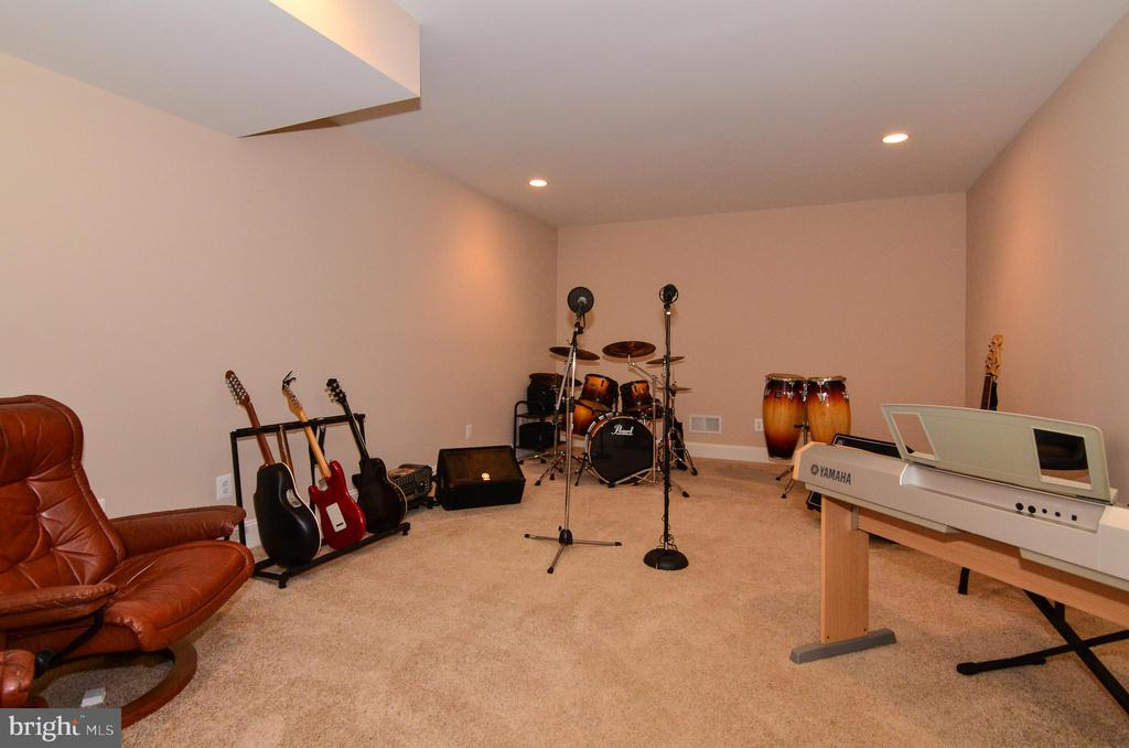 A sound proof music room for the musicians - 12794 YATES FORD ROAD, CLIFTON