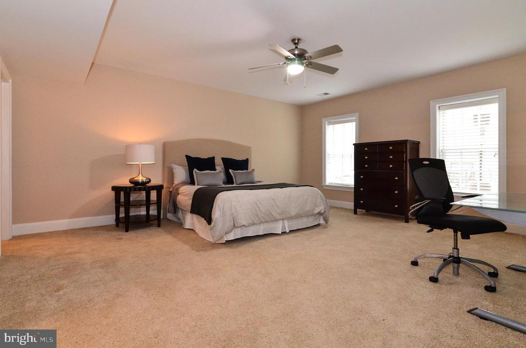 Two huge windows in lower level bedroom - 12794 YATES FORD ROAD, CLIFTON