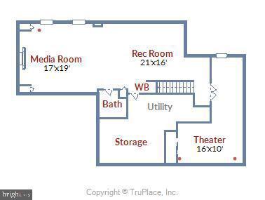 Lower Level Floor Plan - 43268 HILL HEAD PL, LEESBURG