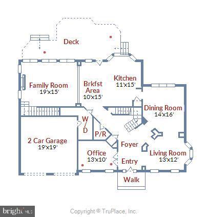 Main Level Floor Plan - 43268 HILL HEAD PL, LEESBURG