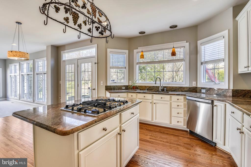 kitchen- refinished cabinetry - 43268 HILL HEAD PL, LEESBURG