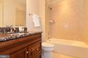 3rd en-suite bathroom with granite counter - 12794 YATES FORD ROAD, CLIFTON