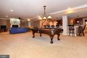 Entertain in style in  lower level recreation room - 12794 YATES FORD ROAD, CLIFTON