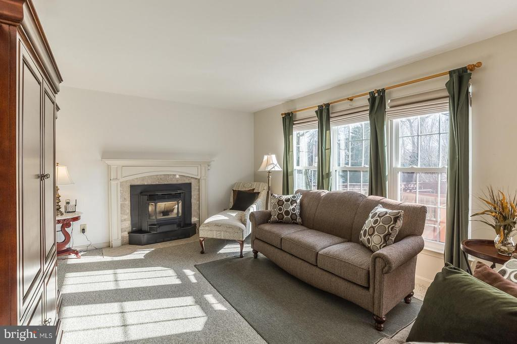 Family room w/pellet woodstove w/temp control - 8 WESTCHESTER CT, STAFFORD