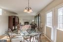 Eat in Kitchen w/french doors to bi-level deck - 8 WESTCHESTER CT, STAFFORD