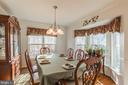 Separate Dining room w/bay window - 8 WESTCHESTER CT, STAFFORD