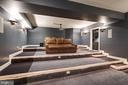 Tiered Home Theater with bar cabinets/lighting - 886 CHINQUAPIN RD, MCLEAN