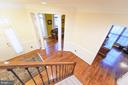 View from Upstairs to Foyer Area - 4741 CHARTER CT, WOODBRIDGE