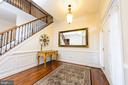 Grand Foyer with Shadow Box Trim - 4741 CHARTER CT, WOODBRIDGE