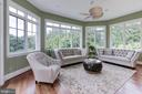 Sunroom with built-in cabinetry media center - 886 CHINQUAPIN RD, MCLEAN