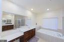 Master Bath with Separate Tub - 4741 CHARTER CT, WOODBRIDGE