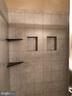 Ceramic tile in Master shower and on floor - 8809 MILLWOOD DR, SPOTSYLVANIA