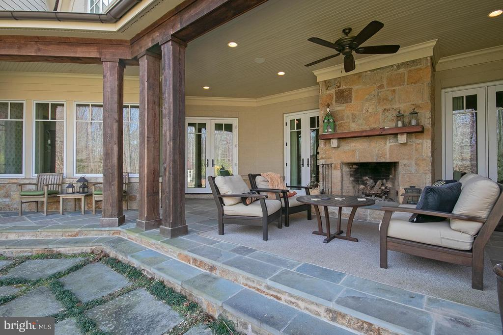 One Outdoor Seating Area with Wood Burning FP - 203 CARRWOOD RD, GREAT FALLS