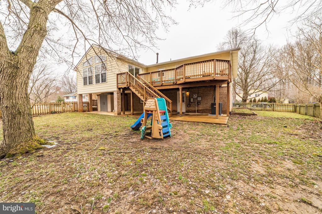 Backyard - 6221 LAVELL CT, SPRINGFIELD