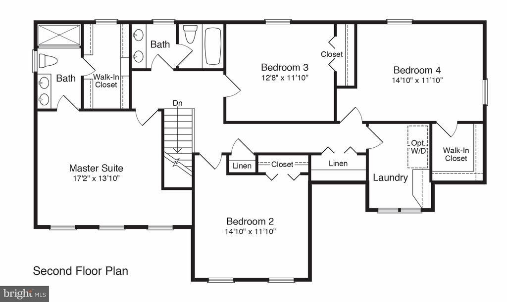 2nd Floor Plan - 101 FLINTLOCK CT, LOCUST GROVE